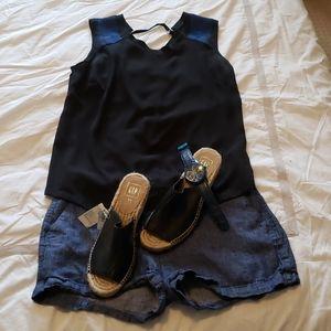 Black/blue sleeveless Mexx top - sz 8